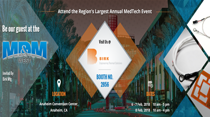 Birk Manufacturing at 2018 MD&M West Expo