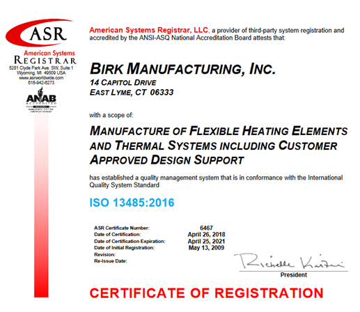 ISO 13485-2016 Certification