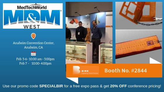 Birk Manufacturing to Attend MD&M Expo 2019