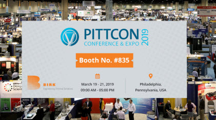 Join BirkMfg at Pittcon 2019
